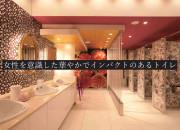 女性を意識した華やかでインパクトのあるトイレ